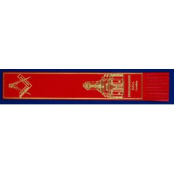 Red Leather Masonic Bookmark