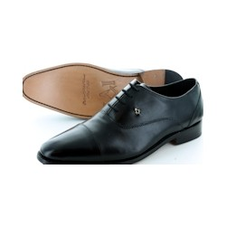 Men's Black Oxford Leather Shoes
