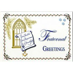 Fraternal Greetings Christmas Card