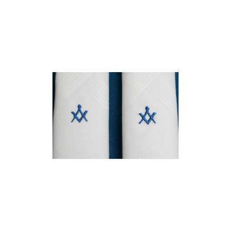 2 Gents White Handkerchiefs - Back in stock
