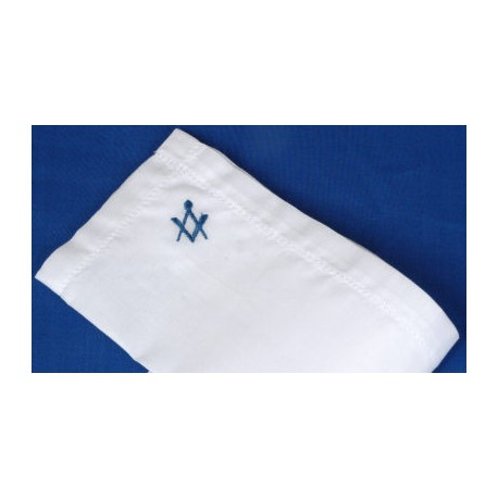 Gents Handkerchief with Blue Sq/C