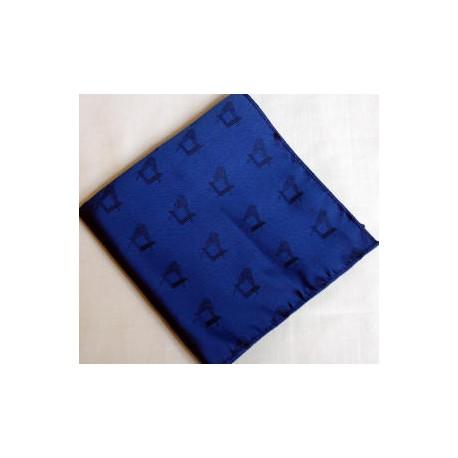 2 Blue Polyester Handkerchiefs