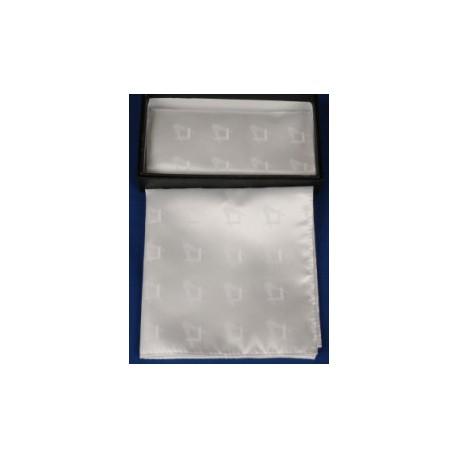 2 White Polyester Handkerchief