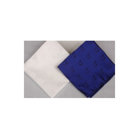 White & Blue Polyester Handkerchiefs