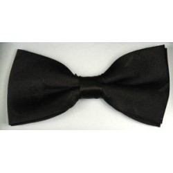 Silk Ready Made Black Bow Tie