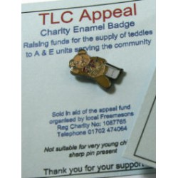 TLC Teddy Lapel pin Broken Leg