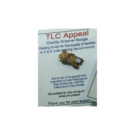 TLC Teddy Lapel pin Broken Leg