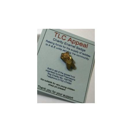 TLC Teddy Bear Lapel pin