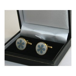Forget Me Not Cuff links