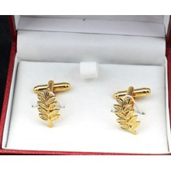 Sprig of Acacia Cuff Links - Back in Stock