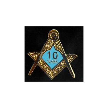 10 Year Craft Lapel pin