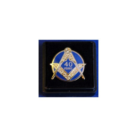 40 Year Lapel pin