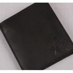 Sq/ C Black Leather Wallet