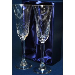 Square & Compasses Champagne set