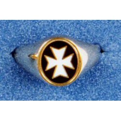 9 Carat Gold Knights of Malta Oval Ring