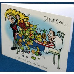 Get well soon card Bunch of Grapes