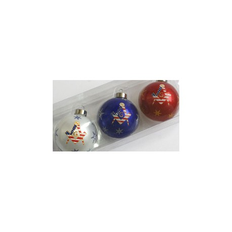 American Masonic Christmas Baubles