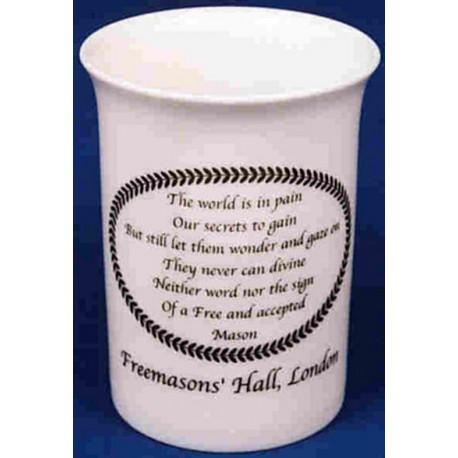 Masonic poem mug