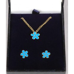 Forget me not Necklace & Earrings
