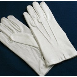 White Masonic Cotton Gloves