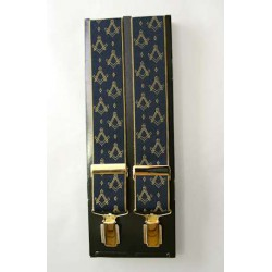 Blue Braces with Gilt Square and Compasses