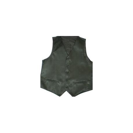 Black Sq/c Shadow Weave Waistcoat
