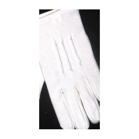 Ladies White Cotton Gloves