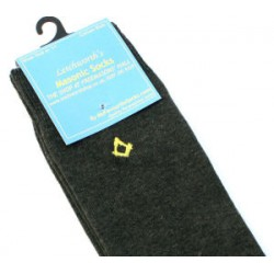 Charcoal Socks with Gold SQ/C