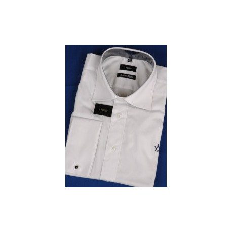 White shirt with blue Sq/c