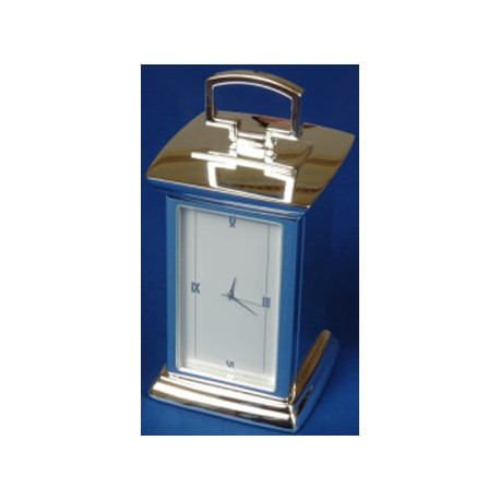 Square and Compasses Carriage clock