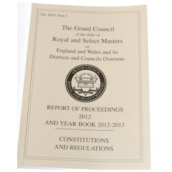 Royal and Select Masters Regulations, Constitutions and Year Book 2017-18