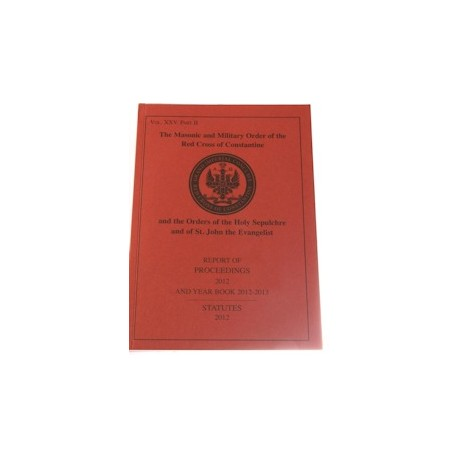 Red Cross of Constantine Proceedings and Year Book 2016-17 Statutes 2016