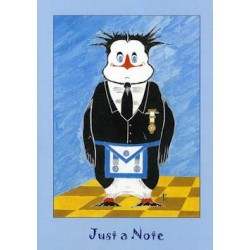 M.M. Just a Note Penguin Card