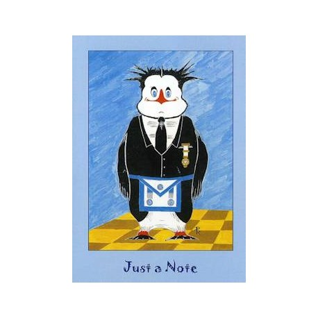 M M  Just a Note Penguin Card - Letchworths Shop: Masonic Accessories |  Masonic Gifts - Letchworth's Shop