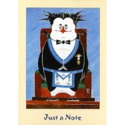 W.M. Just a Note Penguin card