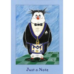 L.G.R. Just a Note Penguin card