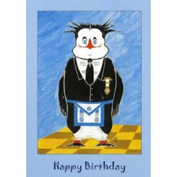 M.M.Happy Birthday Penguin card