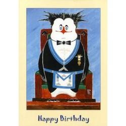 W.M. Happy Birthday Penguin card