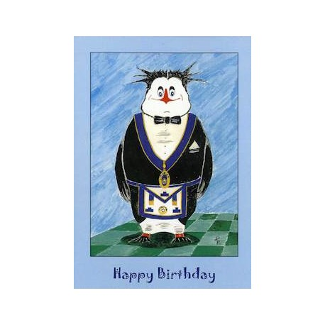 L.G.R. Happy Birthday Penguin card