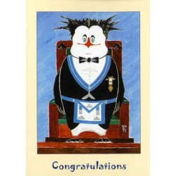 W.M. Congratulations Penguin Card