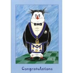 L.G.R.Congratulations Penguin Card