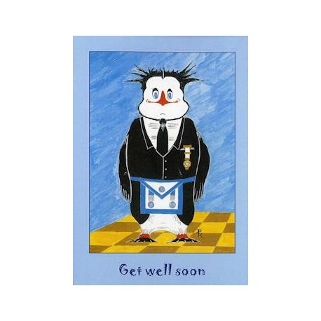M.M.Get Well Soon Penguin Card