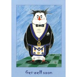 L.G.R.Get Well Soon Penguin Card