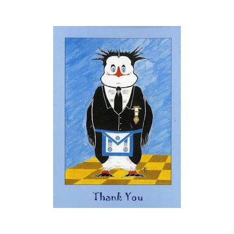 M.M. Thank You Penguin Card