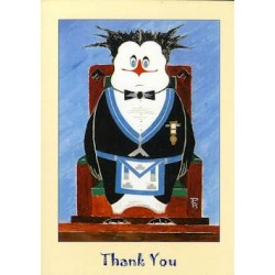 W.M. Thank You Penguin Card