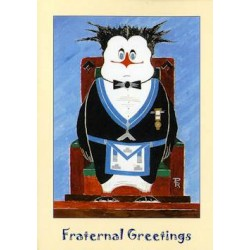 W.M. Fraternal Greeting Penguin Card