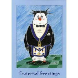 L.G.R.Fraternal Greetings Penguin Card