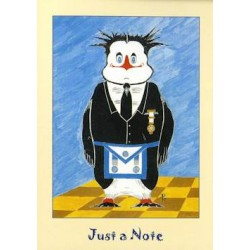 M.M. 5 Pack Just a Note Penguin Cards