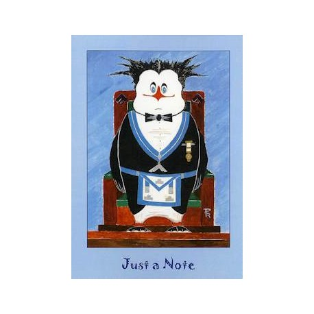 W.M. 5 Pack Just a Note Penguin Cards