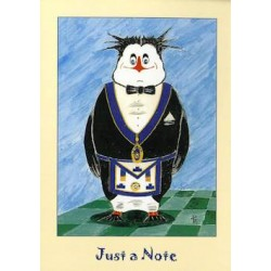 L.G.R. 5 Pack Just a Note Penguin Cards